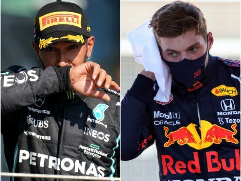 Lewis Hamilton and Max Verstappen (Tim Goode/Bradley Collyer/PA)