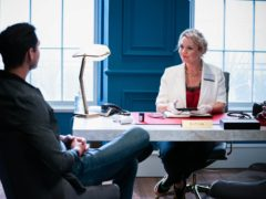 Charlie Brooks has made her long-awaited return to EastEnders as Janine Butcher (Kieron McCarron/Jack Barnes/BBC/PA)