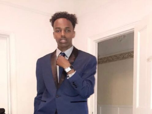 Photo issued by Metropolitan Police of shooting victim Sharmake Mohamud (Metropolitan Police/PA)