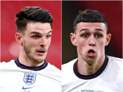 Declan Rice and Phil Foden (Michael Regan/Neil Hall/PA)