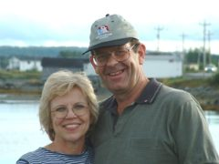 Diane and Nick on honeymoon in Gander in 2002 (Nick and Diane Marson/PA)