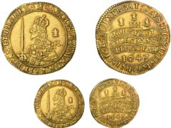 A very rare large gold coin from the reign of Charles I is expected to fetch £50,000 when it is sold at auction (Dix Noonan Webb/PA)