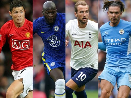 Cristiano Ronaldo, Romelu Lukaku, Harry Kane and Jack Grealish had eventful transfer windows (PA)
