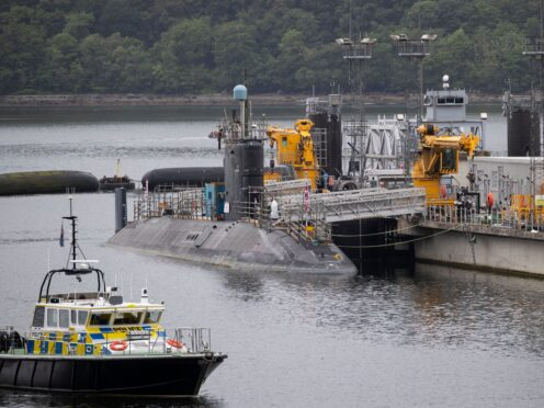 Scottish politicians should have to give their consent to 'major decisions' on defence, including those concerning the UK's Trident submarine, a Labour MSP said (Jane Barlow/PA)