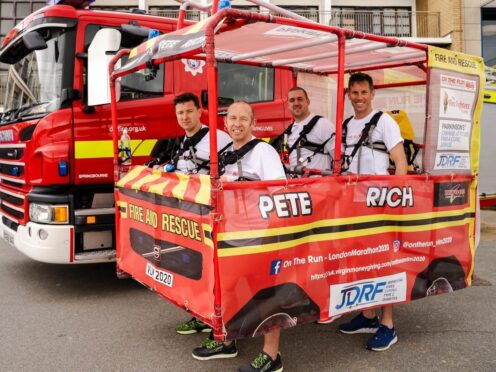 The engine has been made of plumbers' pipes (The Fire Fighters Charity/PA)