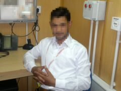 Mohammad, one of the seven interpreters, said he was injured by a grenade while working at the British embassy in Kabul a decade ago (PA)
