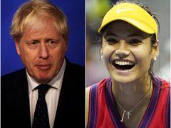 Boris Johnson has spoken to Emma Raducanu (Dan Kitwood/ZUMA/PA)
