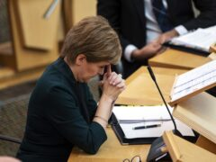 Nicola Sturgeon has admitted the performance in Scotland's accident and emergency departments is 'not good enough' (Andy Buchanan/PA)