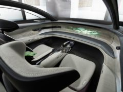 The interior is particularly space-age