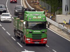The UK Government is making 5,000 temporary visas available for HGV drivers in a bid to tackle shortages (Steve Parsons/PA)