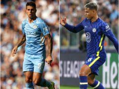 Joao Cancelo, left, and Thiago Silva are fancied picks this week (Martin Rickett/Fabrizio Carabelli/PA)