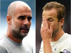 Pep Guardiola's Manchester City struggled in front of goal, as did his summer target Harry Kane (Zac Goodwin/Tim Goode/PA)