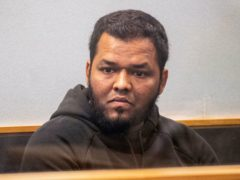Ahmed Aathill Mohamed Samsudeen, appearing in court in 2018 (Greg Bowker/New Zealand Herald/AP)