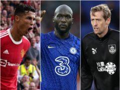 Cristiano Ronaldo (left), Romelu Lukaku (centre) and Peter Crouch (Martin Rickett/Mike Egerton/Adam Davy/PA)