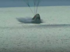 The SpaceX capsule carrying four people splashes down in the Atlantic off the Florida coast after three days in orbit (Inspiration4/AP)