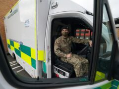 Soldiers could be driving ambulances for longer than two months if needed, Scottish Secretary Alister Jack has said (Andrew Milligan/PA)