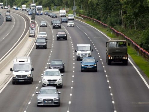 Smart motorways do not have hard shoulders (PA)