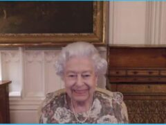 The Queen on her virtual call to New Zealand (Buckingham Palace/PA)