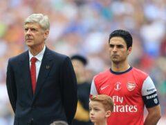 Mikel Arteta was Arsenal captain under Arsene Wenger (Nick Potts/PA)