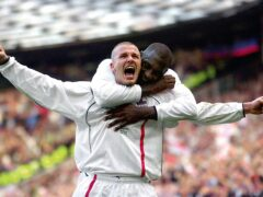 Captain David Beckham, front, sent England to the 2002 World Cup (Phil Noble/PA)