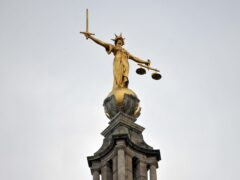 A view of the Lady Justice statue atop of the Central Criminal Court, also referred to as the Old Bailey (Nick Ansell/PA)
