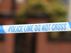 The incident occurred in a car park off Paisley Road West, Glasgow, on Friday night (PA)