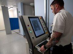 The torso and body scanner (Jon Super/PA)