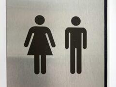 Unisex non-binary gender neutral signage (Martin Keene/PA)