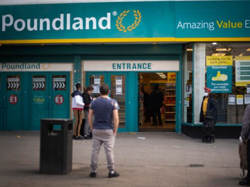 Poundland boss says supply chain issues will stay for 12 months. (Victoria Jones/PA)