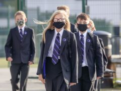 Pupils wear protective face masks at Outwood Academy Adwick in Doncaster (PA)