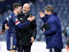 Scotland coach John Carver (right) is confident for the Israel visit (Steve Welsh/PA)