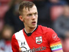 Southampton captain James Ward-Prowse must serve a three-match suspension following his red card in the defeat at Chelsea (Michael Steele/PA)
