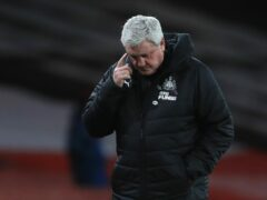 Newcastle head coach Steve Bruce was the 10th man to take the helm under previous owner Mike Ashley (Adam Davy/PA)