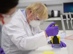 Prime Minister Boris Johnson visited the French biotechnology laboratory Valneva in Livingston in January (PA)