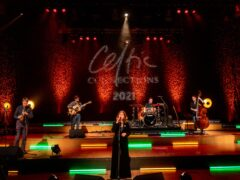 The Karen Matheson Band performing at the Glasgow Royal Concert Hall in Glasgow during the first virtual Celtic Connections in 2021 (Gaelle Beri/PA)
