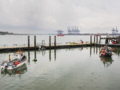 Two people are understood have been rescued from the sea near the port town of Harwich in Essex (Ian West/PA)