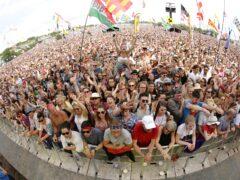Music fans at Glastonbury (Yui Mok/PA)