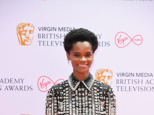 Letitia Wright has denied reports she shared anti-vaccine views on the set of Marvel blockbuster Black Panther 2 (Ian West/PA)
