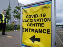 Covid-19 vaccination centre (Andrew Milligan/PA)