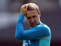 Liam Livingstone suffered an injury during England's warm-up defeat to India (Bradley Collyer/PA)