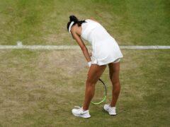 Emma Raducanu was beaten in her first match as a grand slam champion in Indian Wells (John Walton/PA)