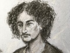 Court artist sketch of Danyal Hussein at the Old Bailey (Elizabeth Cook/PA)