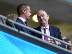 UEFA president Aleksander Ceferin and his FIFA counterpart Gianni Infantino should expect to be held to account over their stated concern for player welfare, FIFPRO has warned (PA)