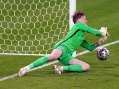 Jordan Pickford has helmed a record-breaking England backline (Mike Egerton/PA)