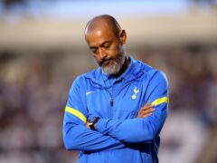 Nuno Espirito Santo admits his first few months at Tottenham have been a struggle (Nigel French/PA)