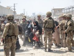 Members of the British and US military engaged in the evacuation of people out of Kabul (MoD/PA)