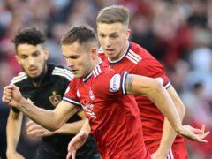 Aberdeen midfielder Teddy Jenks (centre) (Steve Welsh/PA)