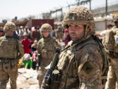 British troops involved in the evacuation from Kabul airport in August (LPhot Ben Shread/MoD/PA)