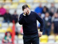 Bradford boss Derek Adams saw his side concede a last-gasp equaliser (Zac Goodwin/PA).