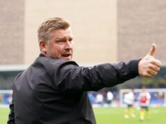 Karl Robinson was proud of his Oxford players (Tess Derry/PA)